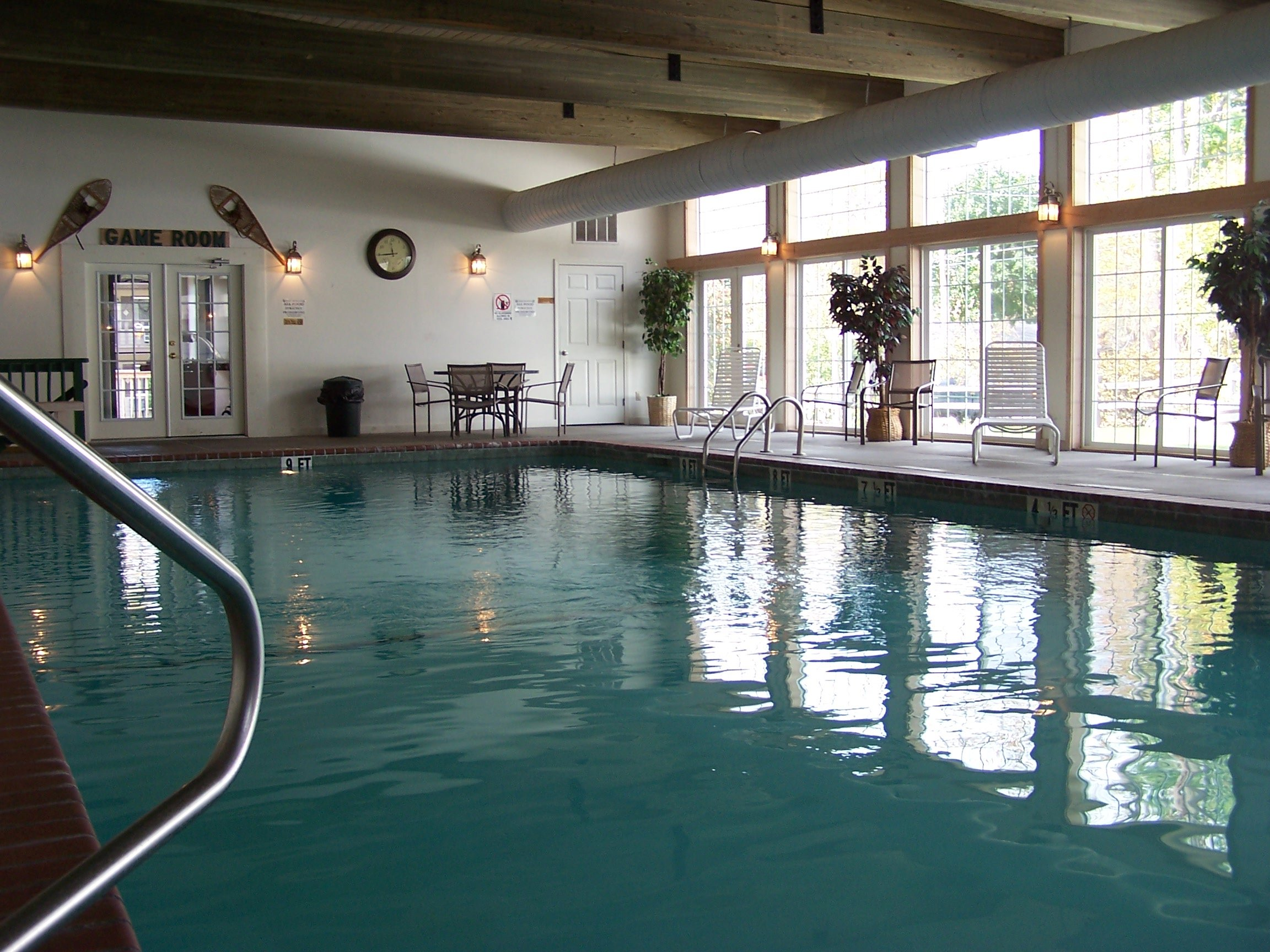 Swim year round in our beautiful indoor pool